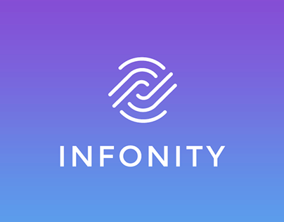 INFONITY logo and icon for a news app