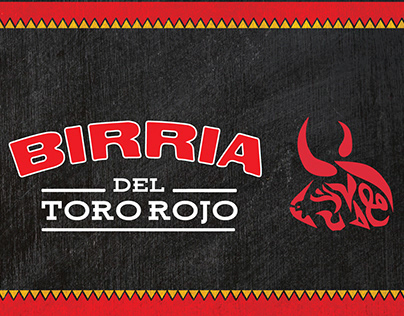 Birria Del Toro Rojo Food Truck Design