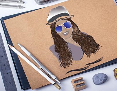 Self Portrait Sketch ( technical Illustration)