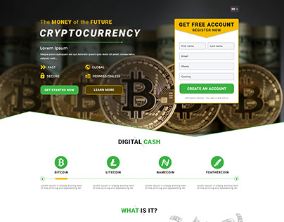 Cryptocurrency - Landing page