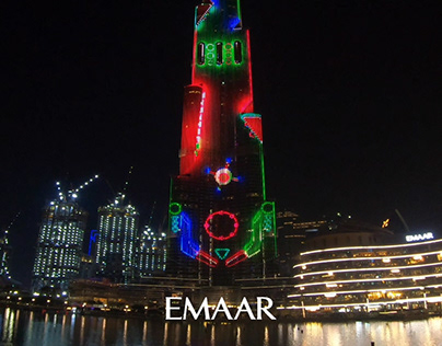 Burj Khalifa Light Show Animation - 'Nostalgia'