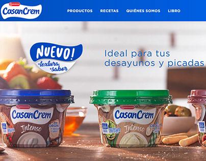 Desarrollo Sitio web - CasanCrem, Argentina