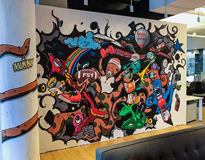 Wieden + Kennedy Studio Mural