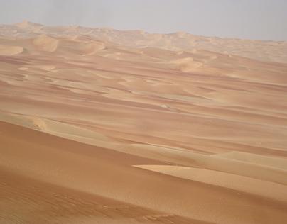 The immensity of the Empty Quarter desert