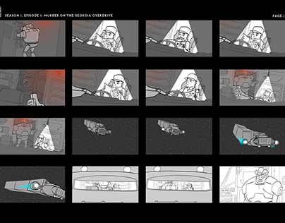 """Dallas and Robo"", Season 1 Episode 4 Storyboards"