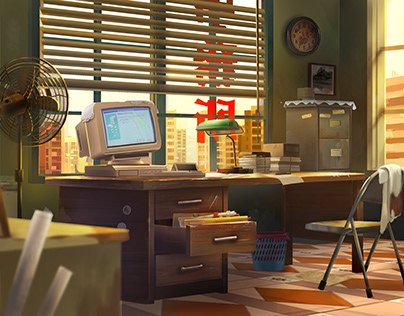 Detective Office in 80's