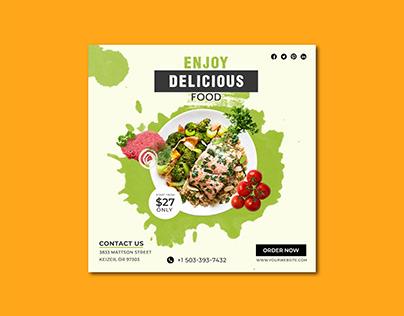 restaurant food banner design poster