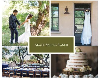Apache Springs Ranch Wedding Magazine Advertisement
