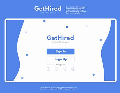GetHired//Simple HR software//Desktop App