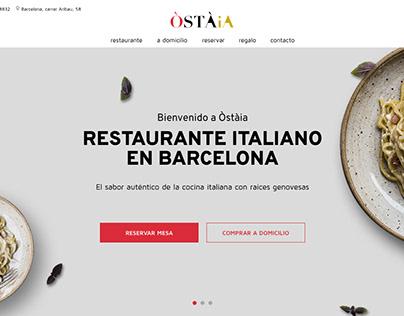 Restaurante Ostaia - UX/UI design