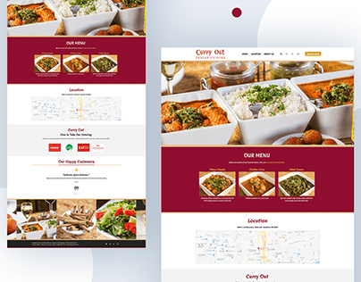 Curry Out - Restaurant Website