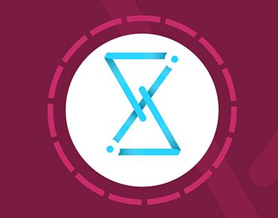 hourglass logo / tempus fugit