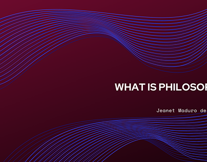 What is Philosophy? | Jeanet Maduro de Polanco