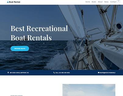 Boat Rental Website Design project 2