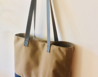 Upcycled Marine Canvas Tote
