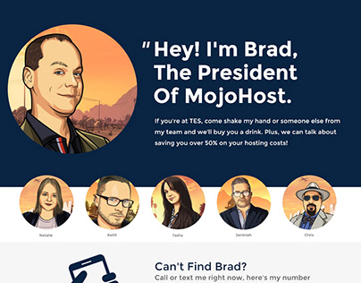 Mojo Host Landing Pages