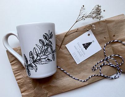 Pattern design for coffe mug