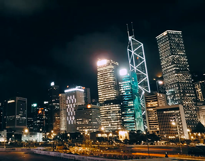 Hong Kong City Lights Time Lapse