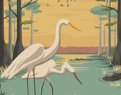 Everglades Travel Poster
