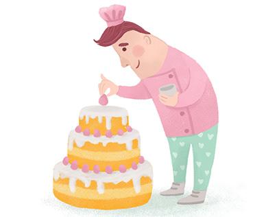Cute Baker - Character design
