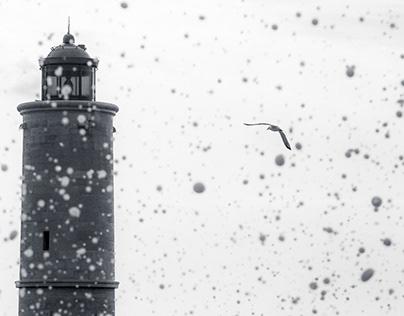 Le phare de Cassis dans la tempête