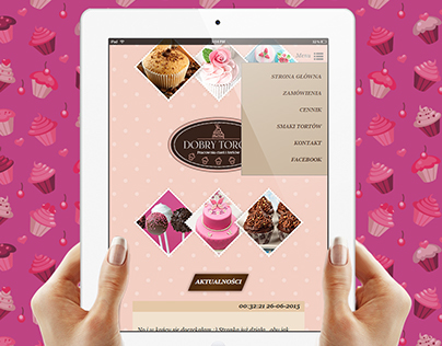 Responsive website for cakes bakery - sweet and pink