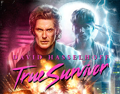 "David Hasselhoff ""True Survivor"" Single Cover"
