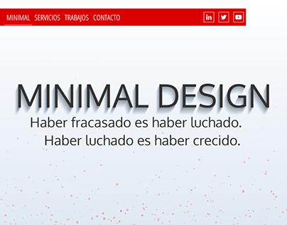 Web corporativa minimalista