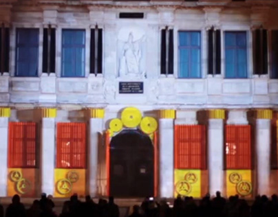 Projection monumentale
