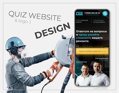 QUIZ WEBSITE DESIGN & logo :)