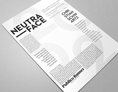 Neutraface Font Poster