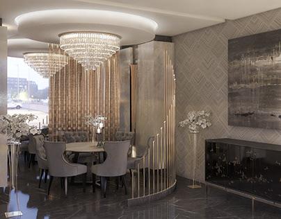 Restaurant's VIP Room Design