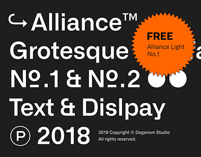 Alliance Typeface