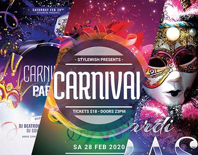 Mardi Gras / Carnival Poster Designs