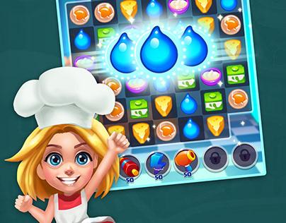 Baking Dash: King of Cake Masters - Match 3 games