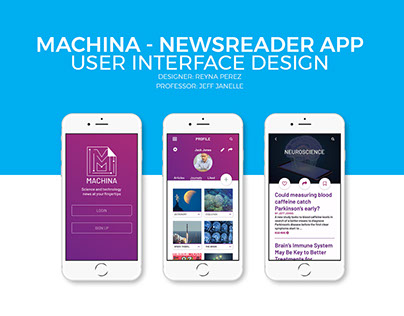 Machina Newsreader App Design