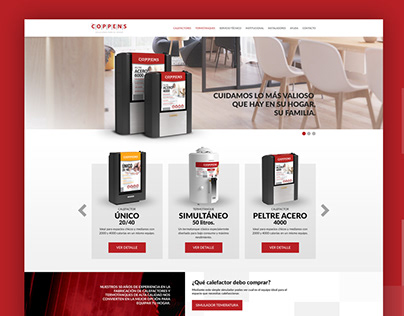Diseño UI/UX web para Coppens