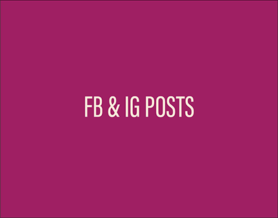 FB AND IG POSTS