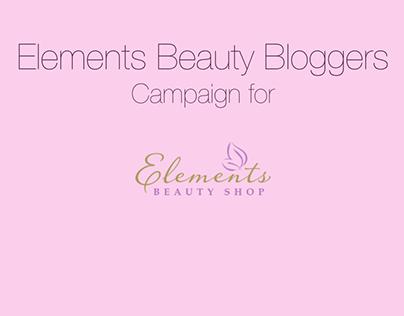 Elements Beauty Bloggers Campaign
