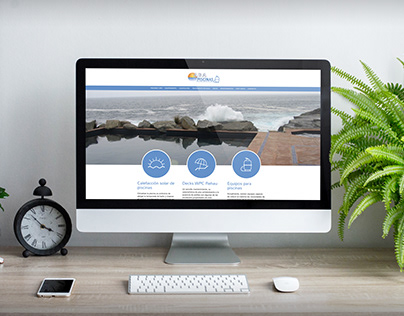 Web design for a pool business