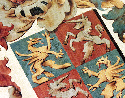 Ruttkay Family Crest –Marquetry picture