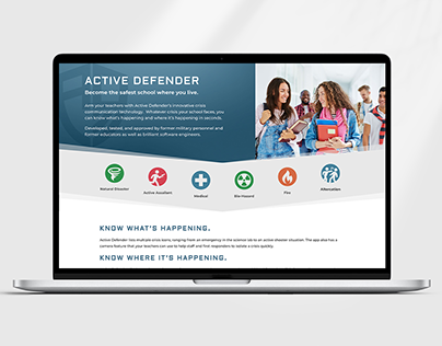 Active Defender Website Design