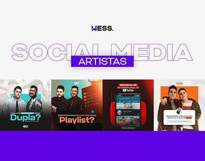 Social Media Artistas 2021