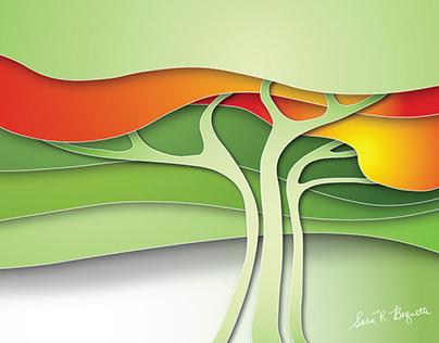 Digital Art: Abstract Tree
