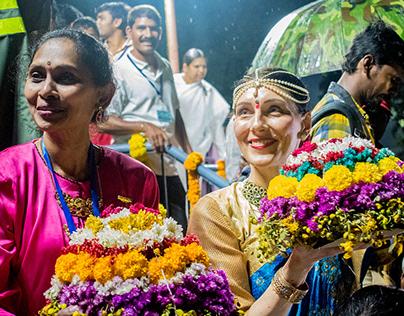 BHATHUKAMMA CELEBRATIONS IN HYDERABAD.
