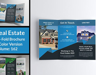 Real Estate Tri-Fold Brochure Design Template