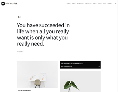 Home - Portfolio - Minimalist WordPress Theme
