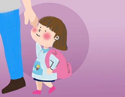Ilustraciones consejos primer día escuela