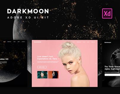 Darkmoon UI Kit for Adobe XD. UI & UX Design