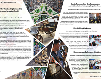 San Fernando Pampanga Year end report magazine